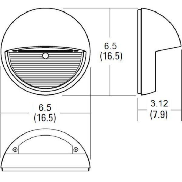Lithonia OLSR DDB M6 - 9 Watt - LED Round Step Light Image