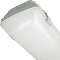 4400 Lumens - 4 ft. LED Vapor Tight Fixture - 40 Watt - 4000 Kelvin - Frosted Lens - IP65 Rated - 120-277V - MaxLite 108052