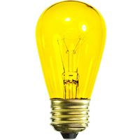 11 Watt - S14 - Transparent Yellow - 3000 Life Hours - 130 Volt