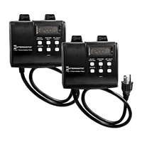 Pack of 2 - Astronomic Heavy Duty Outdoor Timer - 2 Outlets - 15 Amps - 120 VAC - Intermatic HB880R-2PK