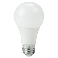 750 Lumens - 9 Watt - 60W Incandescent Equal - LED - A19 - 3000 Kelvin Halogen White - PLTL61122
