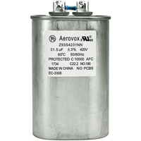 420VAC - Oil Filled Capacitor for HID Lighting - 31.5uf - Metal Oval Case - Aerovox Z93S4231NN
