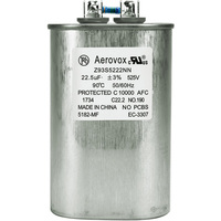 525VAC - Oil Filled Capacitor for HID Lighting - 22.5uf - Metal Oval Case - Aerovox Z93S5222NN