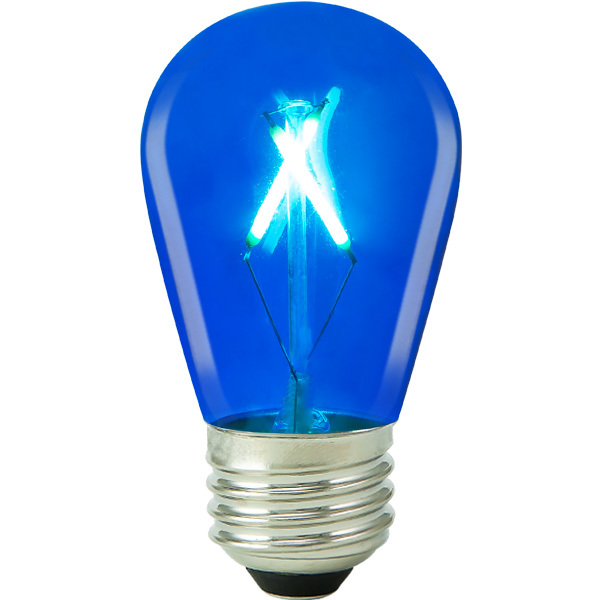 Blue Led S14 1w Lifebulb S14c1124k26 Blue 1000bulbs Com