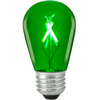 Green - 1 Watt - LED - S14 - 120 Volt