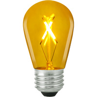 Yellow - 1 Watt - LED - S14 - 120 Volt