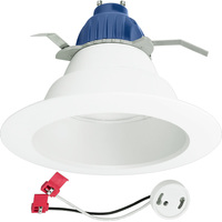 800 Lumens - 6 in. Retrofit LED Downlight - 12W - 65W Equal - 2700 Kelvin - Smooth Baffle Trim - Dimmable - 120V - Cree CR6800L27K12GU24