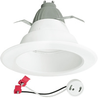 625 Lumens - 6 in. Retrofit LED Downlight - 9.5W - 65W Equal - 2700 Kelvin - Smooth Baffle Trim - Dimmable - 120V - Cree CR6625L27K12GU24