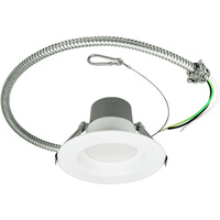Adjustable Lumen Output 500/700/1000 - 4 in. Retrofit LED Downlight - 6/9/14W - 50W Equal - 3000 Kelvin - Stepped Baffle Trim - 120-277V - Green Creative 57864