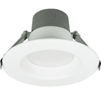 4 in. LED Downlight - 6/9/14 Watt - 50 Watt Equal - Halogen Match - Adjustable Lumen Output 500/700/1000 - 3000 Kelvin - 80 CRI - Stepped Baffle Trim - 120-277V - Green Creative 57864