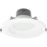 6 in. LED Downlight - 8.5/13.5/21 Watt - 125 Watt Equal - Halogen Match - Adjustable Lumen Output 700/1000/1500 - 3500 Kelvin - 80 CRI - Stepped Baffle Trim - 120-277V - Green Creative 57870