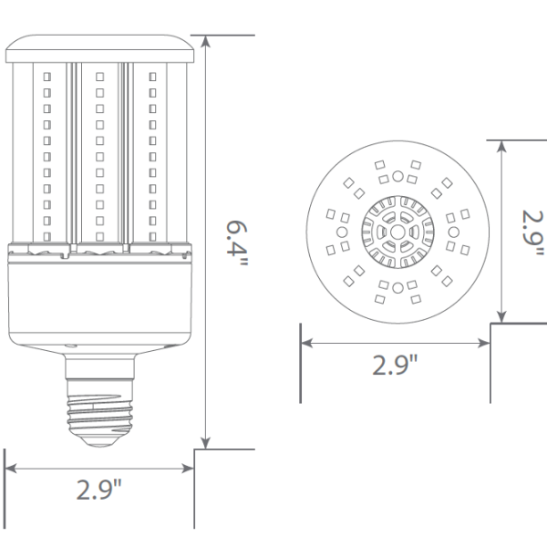 2240 Lumens - 16 Watt - LED Corn Bulb Image
