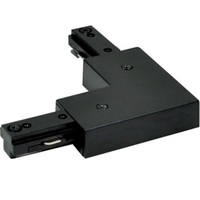 Black - L-Connector - Left/Right Hand Polarity - Dual Circuit - Compatible with Halo Track - Nora NT-2313B