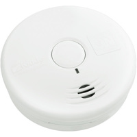 Smoke Alarm - Detects Smoldering Fires - Photoelectric Sensor - Battery Operated - Sealed Lithium 10 Year Battery - Kidde 21010064
