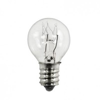 7 Watt - G8 Globe - Clear - 5,000 Life Hours - Candelabra Base - 28 Lumens - 120 Volt - Pack of 25