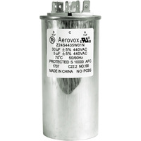 440VAC - Oil Filled Motor Run Capacitor - 30+5uf - Metal Round Case - Aerovox Z24S4435W01N
