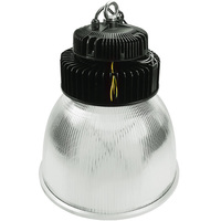 30,000 Lumens - LED High Bay - 3500 Kelvin - Height 19.7 in. x Diameter 16.1 in. - Clear Reflector - 120-277V - PLTE6314