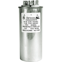 440VAC - Oil Filled Motor Run Capacitor - 40+5uf - Metal Round Case - Aerovox Z24S4445W01N