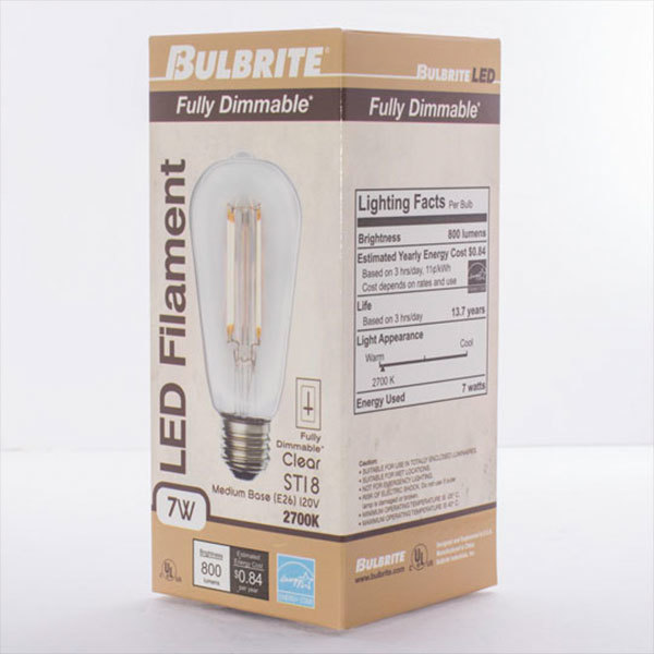 LED Edison Bulb - Vertical Filament - 7 Watt Image