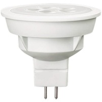 350 Lumens - 3000 Kelvin - LED MR16 - 5 Watt - 35W Equal - 35 Deg. Flood - CRI 80 - Dimmable - 12V - GU5.3 Base - Ushio 1004143
