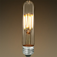 LED T9 Tubular Bulb - Vertical Filament - 400 Lumens - 4 Watt - 40 Watt Equal - 2700 Kelvin Warm White - CRI 80 - Clear - Medium Base - Dimmable