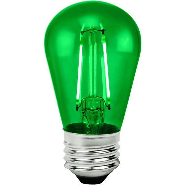 Green - 2 Watt - LED - S14 Image