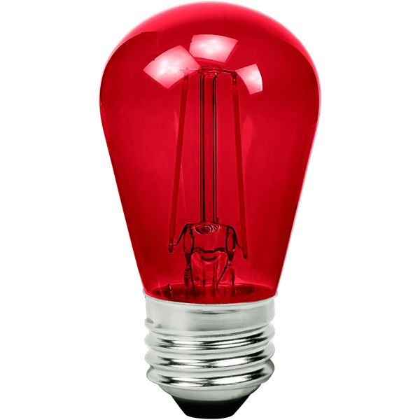 Red - 2 Watt - LED - S14 Image
