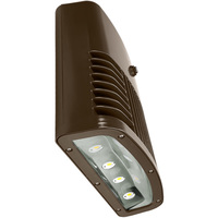 7300 Lumens - LED Wall Pack with Photocell - 90 Watt - 400W MH Equal - 4000 Kelvin - 120V - Lithonia OLWX2 LED 90W 40K 120 PE DDB