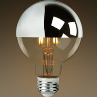 LED - 3.1 in. Dia. Globe - 5 Watt - 40 Watt Equal - Incandescent Match Color - 400 Lumens - 2700 Kelvin - Medium Base - 120 Volt - Bulbrite 776670