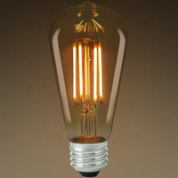 LED Edison Bulb - Color Matched For Incandescent Replacement - Clear - 7 Watt - 60W Equal - 650 Lumens - CRI 80 - Bulbrite 776609
