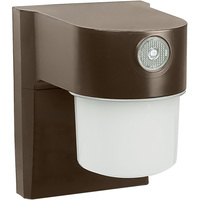 9 Watt - LED Security Light with Photocell Sensor - 4000K Cool White - 120 Volt - Bronze Finish - StonePoint JJ700DB