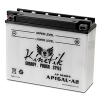 UPG 42531 - OEM UB16AL-A2 - Motorcycle Battery - Conventional (Wet Pack) - 12 Volt - 16 Ah Capacity - B Terminal