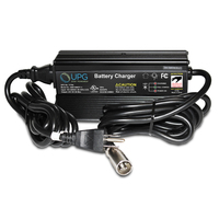 UPG 71704 - 24 Volt/5 Amp - Three Stage - SLA Battery Charger and Maintainer - Fan Cooled - Regulated - For Use with AGM Batteries - 3-Pin XLR Connector