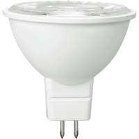 500 Lumens - 3000 Kelvin - LED MR16 - 7 Watt - 50W Equal - 40 Deg. Flood - CRI 80 - Dimmable - 12V - GU5.3 Base