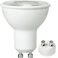 500 Lumens - 3000 Kelvin - LED MR16 - 7 Watt - 50W Equal - 40 Deg. Flood - CRI 80 - Dimmable - 120V - GU10 Base - PLTL3A412
