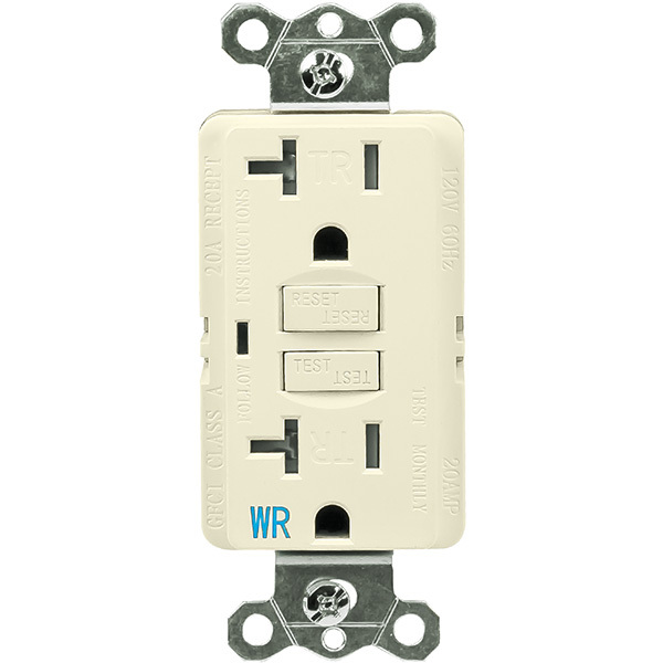 20 Amp Receptacle - Weather and Tamper Resistant GFCI Outlet Image