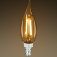 LED Chandelier Bulb - Color Matched For Incandescent Replacement - Tinted - 2.5W - 25W Equal - 160 Lumens - CRI 80 - Bulbrite 776603