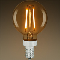 LED G16 Globe - Color Matched For Incandescent Replacement - Tinted - 2.5 Watt - 25W Equal  - 160 Lumens - CRI 80 - Bulbrite 776606