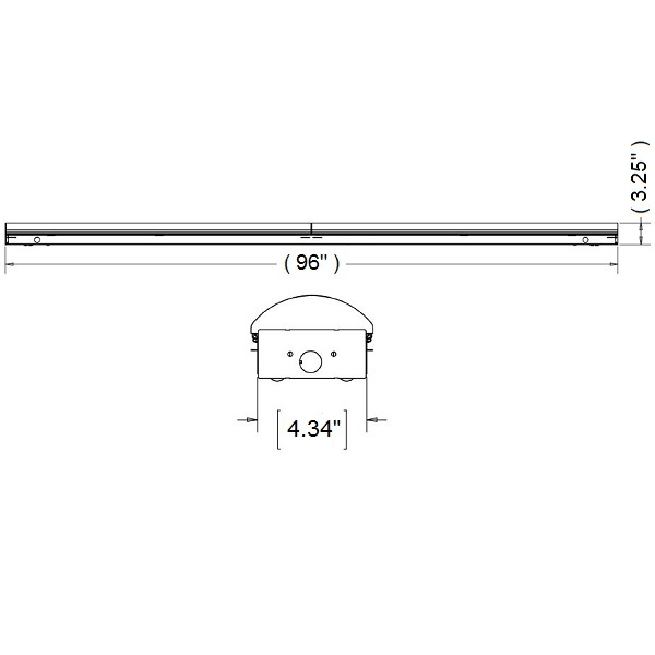 LED Strip Light Fixture With Lens - 8 ft. Image