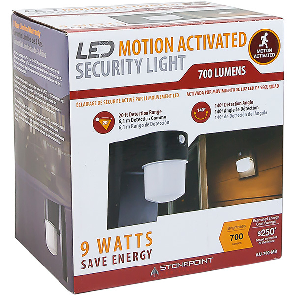 9 Watt - LED Security Light with Motion Sensor Image