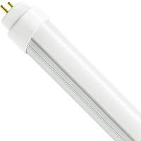 5000 Kelvin - 2400 Lumens - 20W - T8 LED Tube Hybrid - Direct Wire or Plug and Play Installation - 120-277V