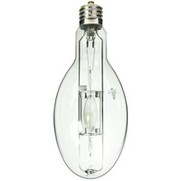 400 Watt - ED37 - Metal Halide - Protected Arc Tube - 3400K - ANSI M59/O - Mogul Base (EX39) - Base Up Burn - MPR400/VBU/HO/O - GE 18708