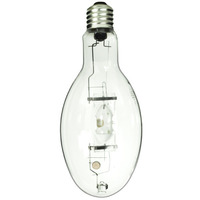 GE 12642 - 400 Watt - ED37 - PulseArc Multi-Vapor - Pulse Start - Metal Halide - Unprotected Arc Tube - 4000K - Mogul Base - ANSI M135/M155 - Vertical Base Up Burn