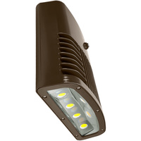 12,700 Lumens - LED Wall Pack with Photocell - 150 Watt - 400W MH Equal - 5000 Kelvin - 120V - Lithonia OLWX2 LED 150W 50K 120 PE DDB