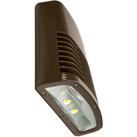 7100 Lumens - LED Wall Pack - 90 Watt - 400W MH Equal - 5000 Kelvin - 120V - Lithonia OLWX2 LED 90W 50K DDB M2