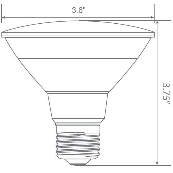 LED PAR30 Short Neck - 900 Lumens - 75W Equal Image