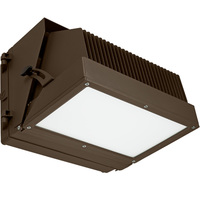 10,000 Lumens - 5000 Kelvin - 120 Watt - LED Wall Pack - 54% Brighter than 250W MH and Uses 52% Less Energy - 120-277 Volt - PLT HLW-L120C-120W-5100K