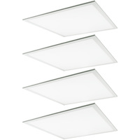 3800 Lumens - 2x2 Ceiling LED Panel Light - 36 Watt - 5000 Kelvin - Opaque Smooth Lens - DLC Premium 4.2 - 4 Pack - 5 Year Warranty