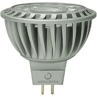 550 Lumens - 2700 Kelvin - LED MR16 - 8.5 Watt - 75W Equal - 35 Deg. Flood - Color Corrected CRI 92 - Dimmable - 12V - GU5.3 Base - Green Creative 98028