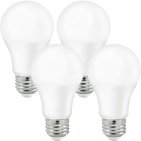 800 Lumens - 9 Watt - 60W Incandescent Equal - LED - A19 - 4000 Kelvin Cool White - 4 Pack